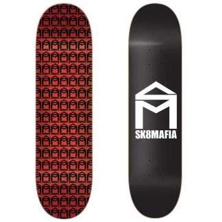 "Sk8Mafia House Logo Black 8.0"" Skateboard Deck"