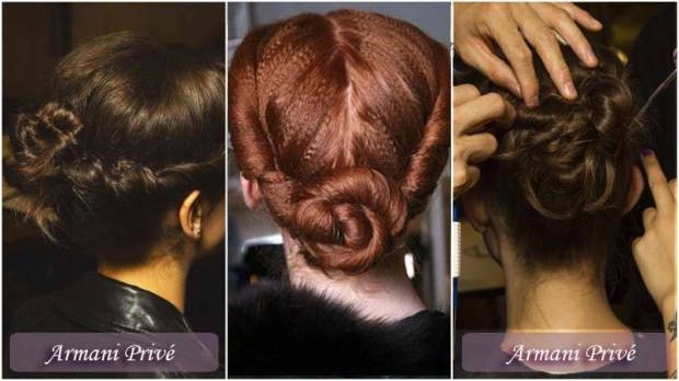 Coafuri in stil French twist Anul Nou 2015