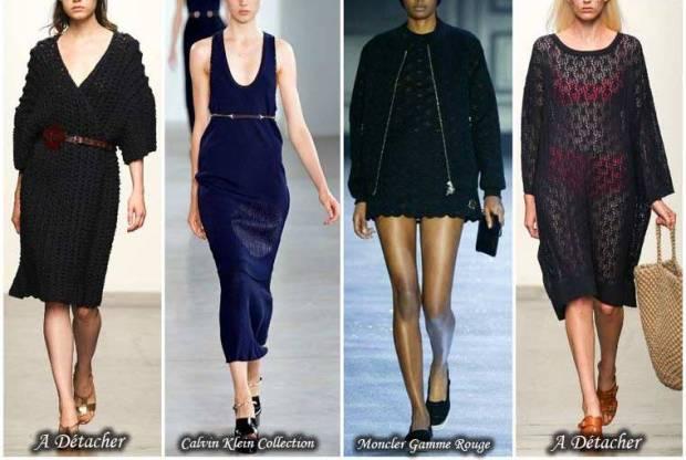 Rochii tricotate la moda primavara 2015