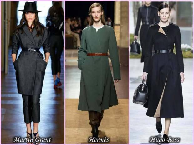 Palton cu cordon in talie femei primavara 2015