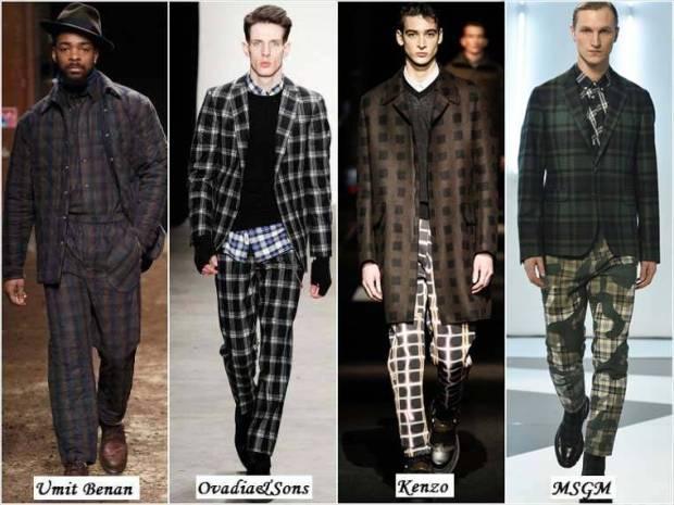 Haine in carouri la moda barbati iarna 2015