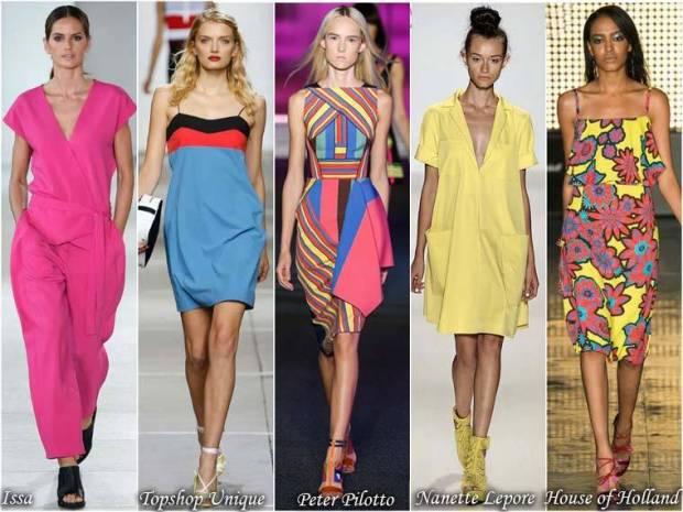 Paleta intensa de culori haine primavara 2015
