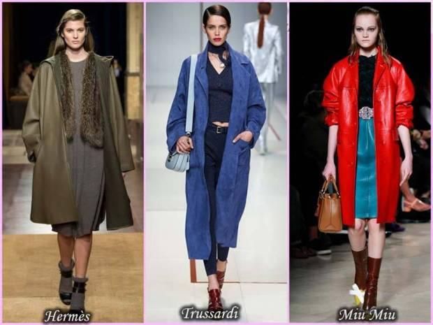 Palton din piele pentru femei primavara 2015
