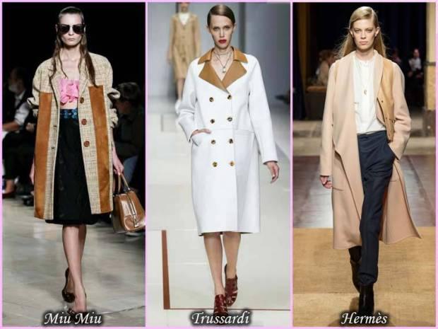 Palton din stofe combinate primavara 2015