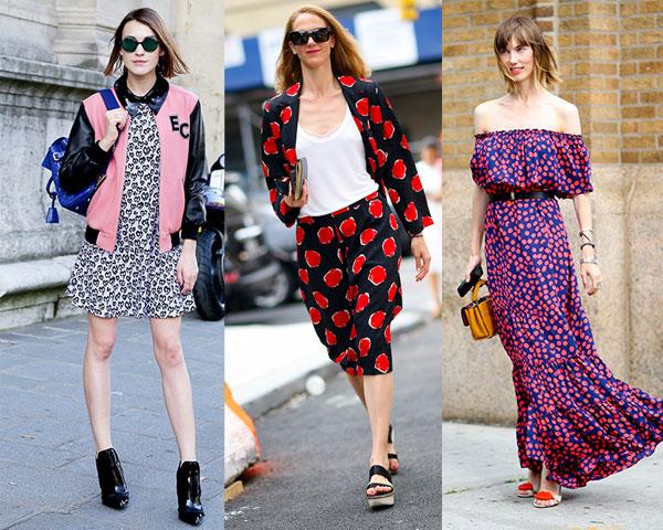 Modele haine cu buline de la Paris si New York