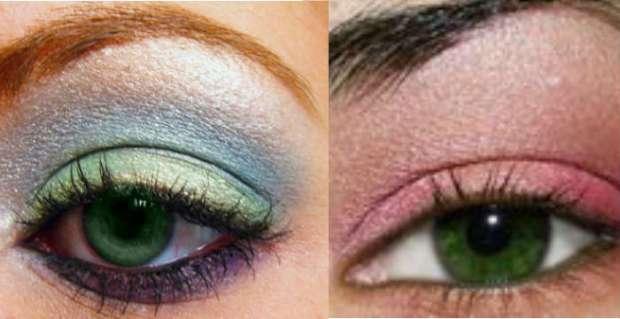 Machiaj ochi verzi culori