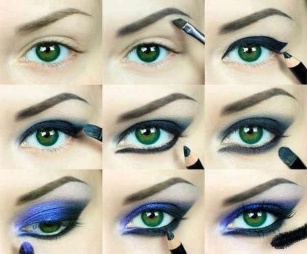 Machiaj pas cu pas pentru ochi de culoare verde