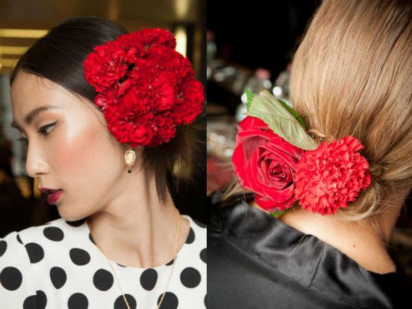 Coafuri moderne cu flori vii