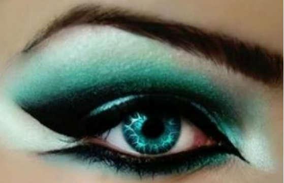 Machiaj cu verde pentru ochi verzi