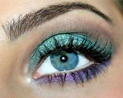 Machiaj ochi albastri