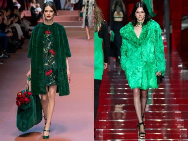 Palton verde de blana