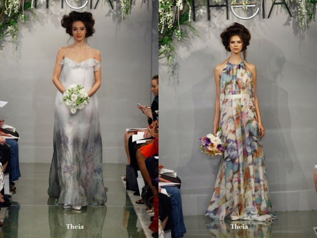 Rochie de mireasa 2016 cu imprimeuri