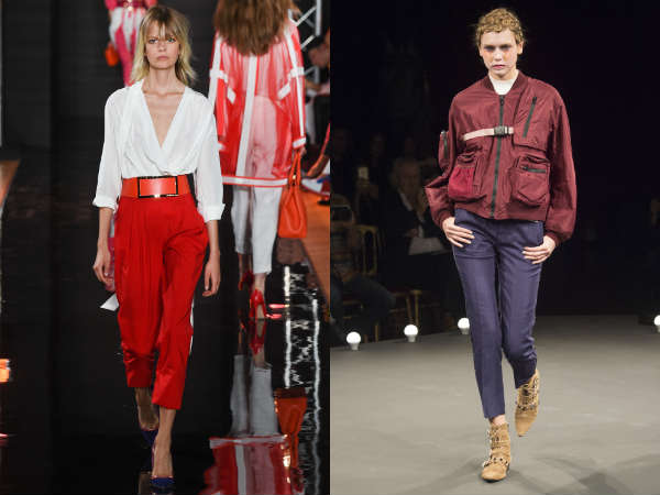 Pantaloni capri conici la moda