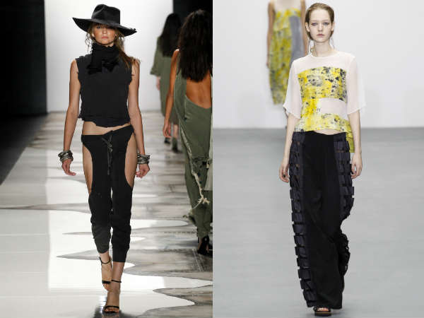 Pantaloni primavara vara la moda 2016: decupari si despicaturi