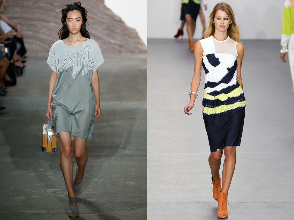 Rochii office la moda 2016 primavara vara: imprimeuri