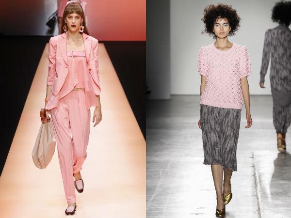 Culoarea roz cuart la moda primavara vara 2016