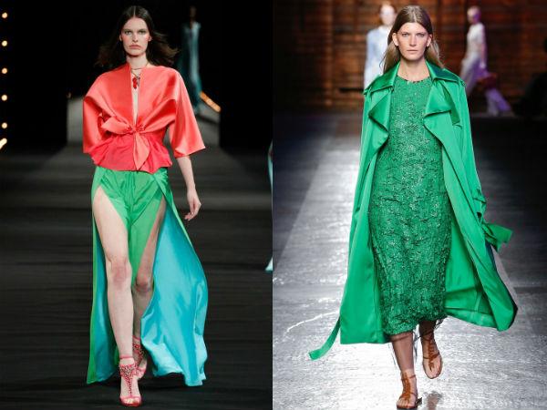 Culoarea verde la moda in 2016