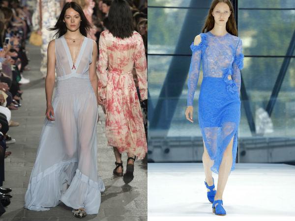 Tendinte moda 2016 primavara vara: transparenta