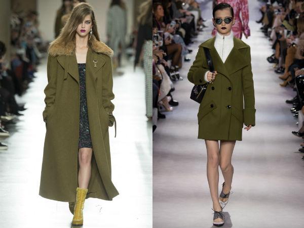 Palton culoare la moda