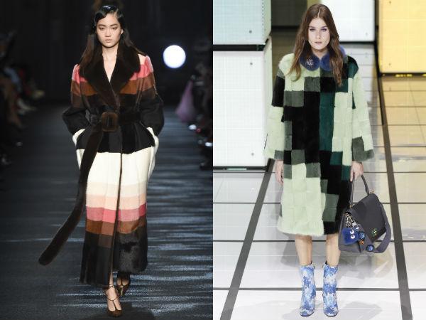 Paltoane lungi cu imprimeu la moda