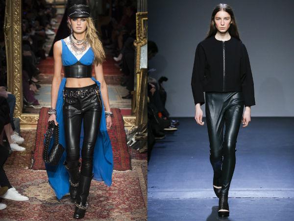 Pantaloni piele dama 2017