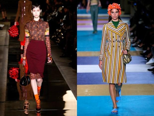Imprimeuri retro la moda primavara vara 2017