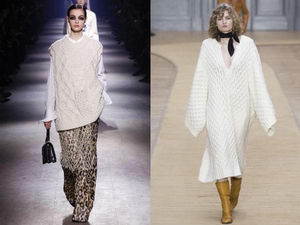 Pulovere dama tricotate albe