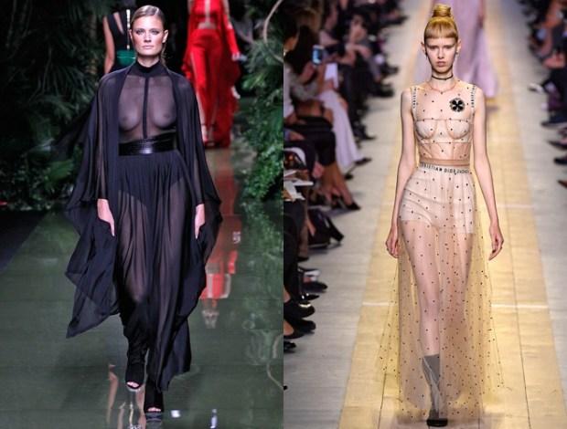 Stofe transparente la moda 2017