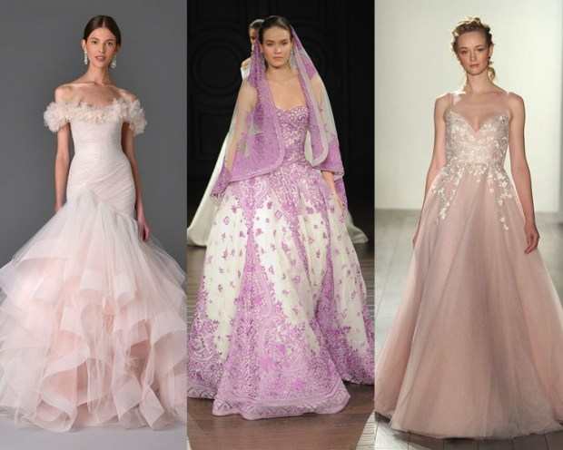 Rochie mireasa culoare roz