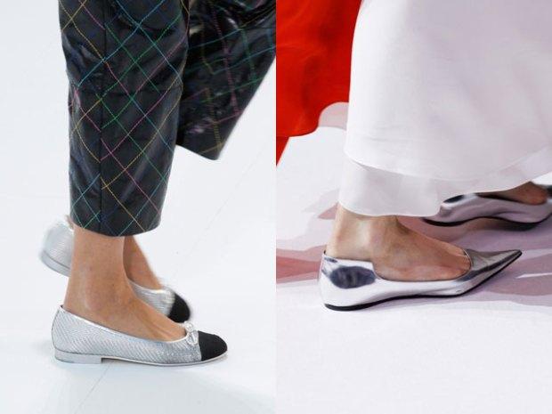Pantofi cu talpa plata primavara vara 2017