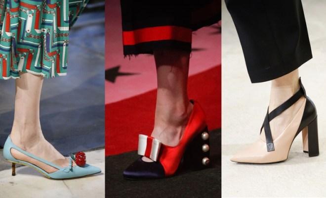 Pantofi la moda primavara-vara 2017