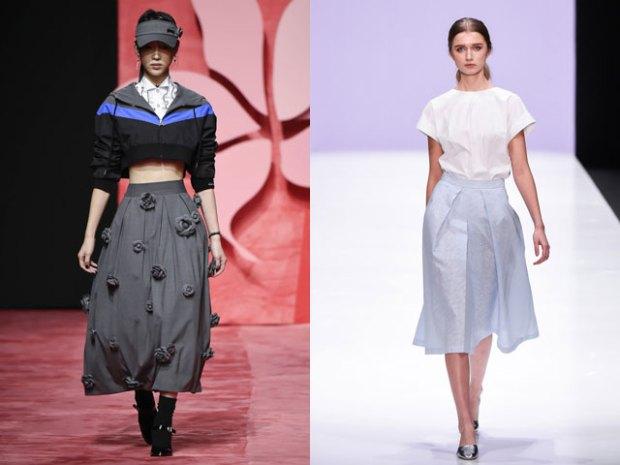 Fuste lungime midi la moda 2017