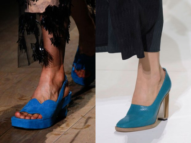 Pantofi albastri