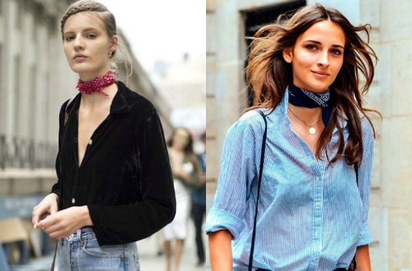 Bandana accesoriu la moda in 2017