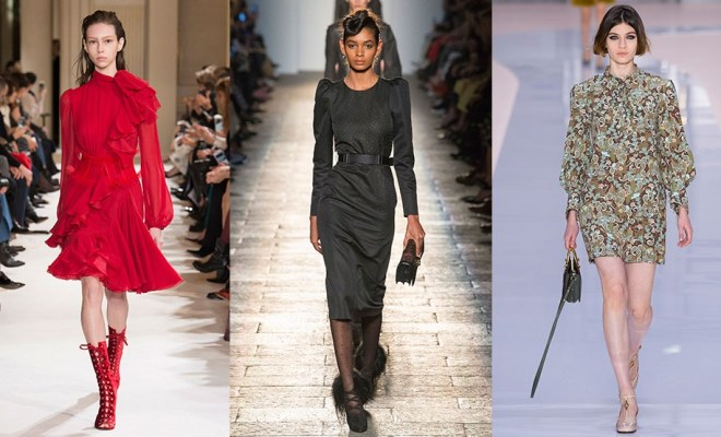 Rochii de zi la moda toamna-iarna 2017-2018