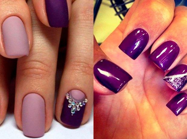 Modele unghii lilac