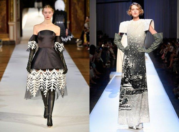 Rochii cu manusi lungi la moda 2018