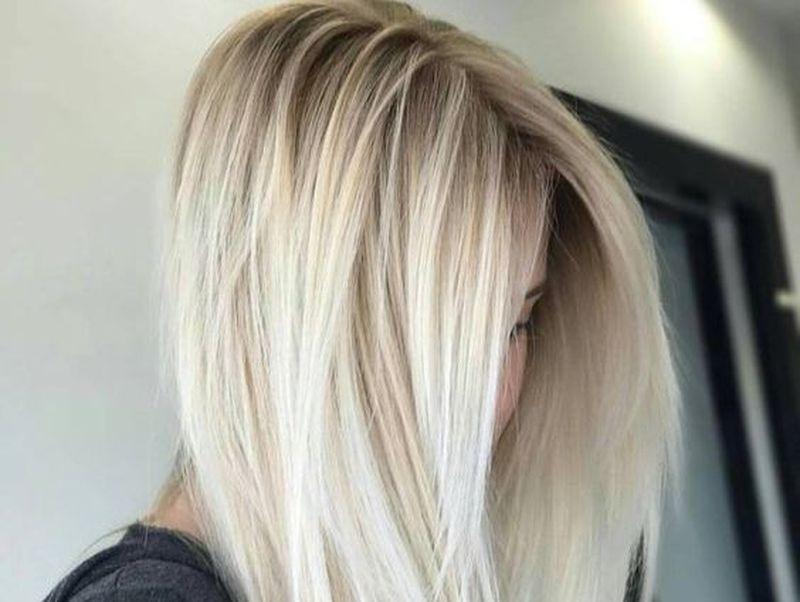 Balayage blond cenusiu