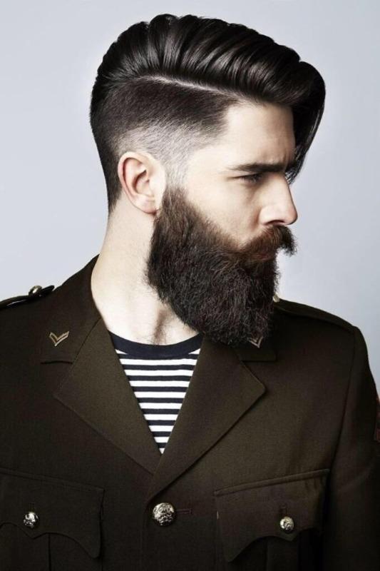 Tunsori barbati par mediu 2018 cu barba