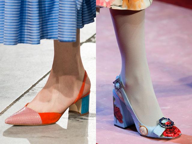 Pantofi dama 2018 cu toc gros