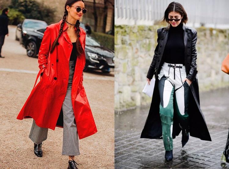 Palton din piele moda 2019