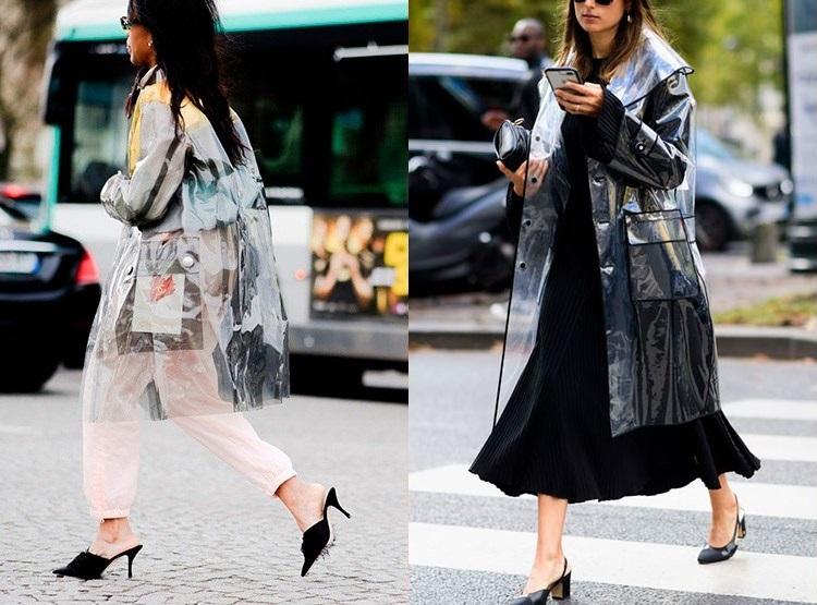 Trenciuri transparente la moda in 2019