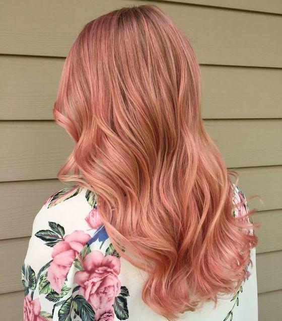 Blond roz par ondulat