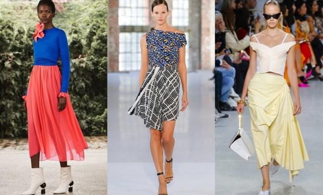 Fuste la moda primavara-vara 2019