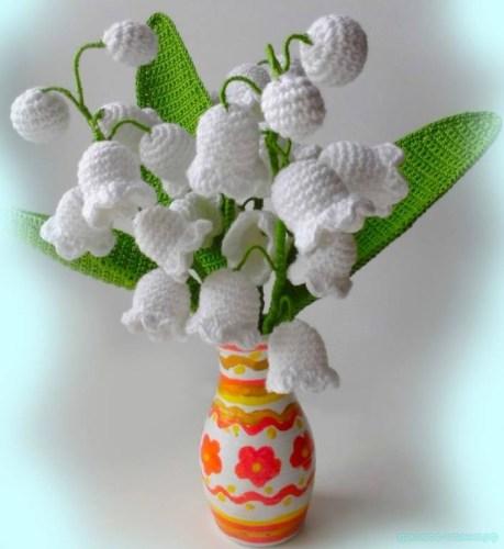Вязание цветов крючком. Ландыши.