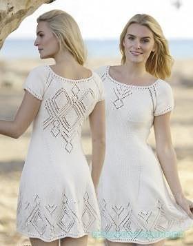 Ажурное платье с ромбами