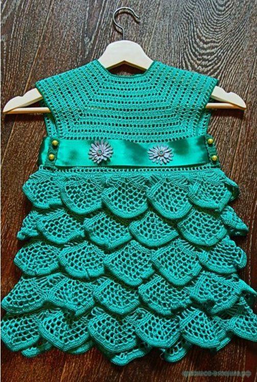 платье крючком детское