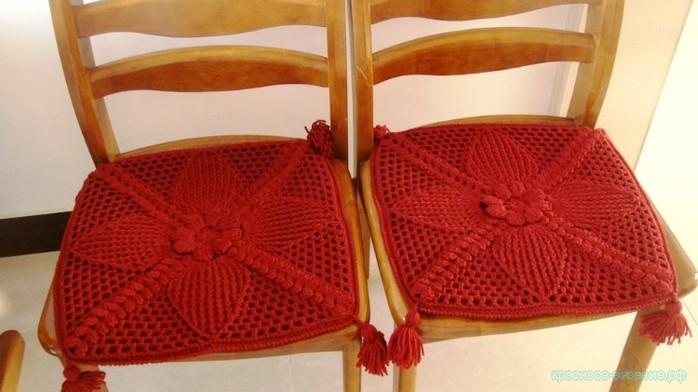 Сидения на стул крючком
