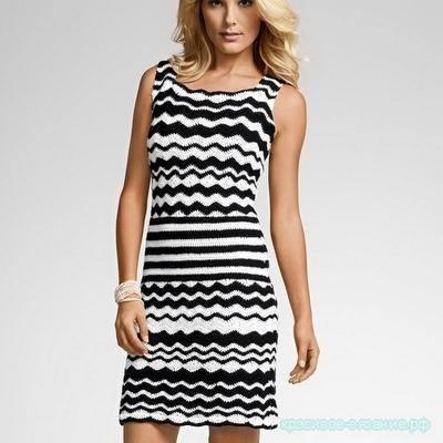 стильное платье крючком