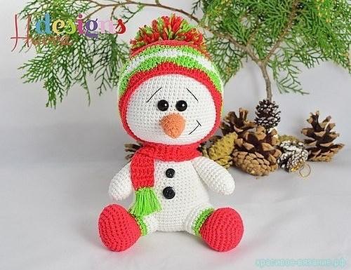 вяжем снеговика
